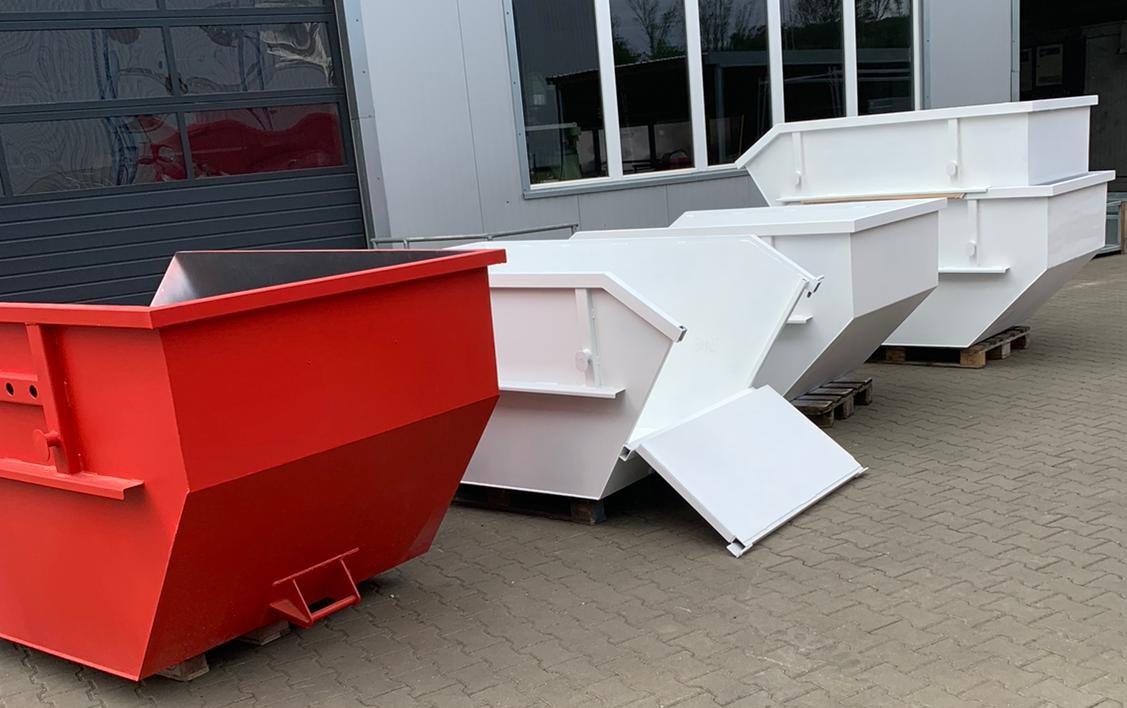 Container Absetzmulde 2 cbm nach DIN 30720 mit Ladeklappe und UVV