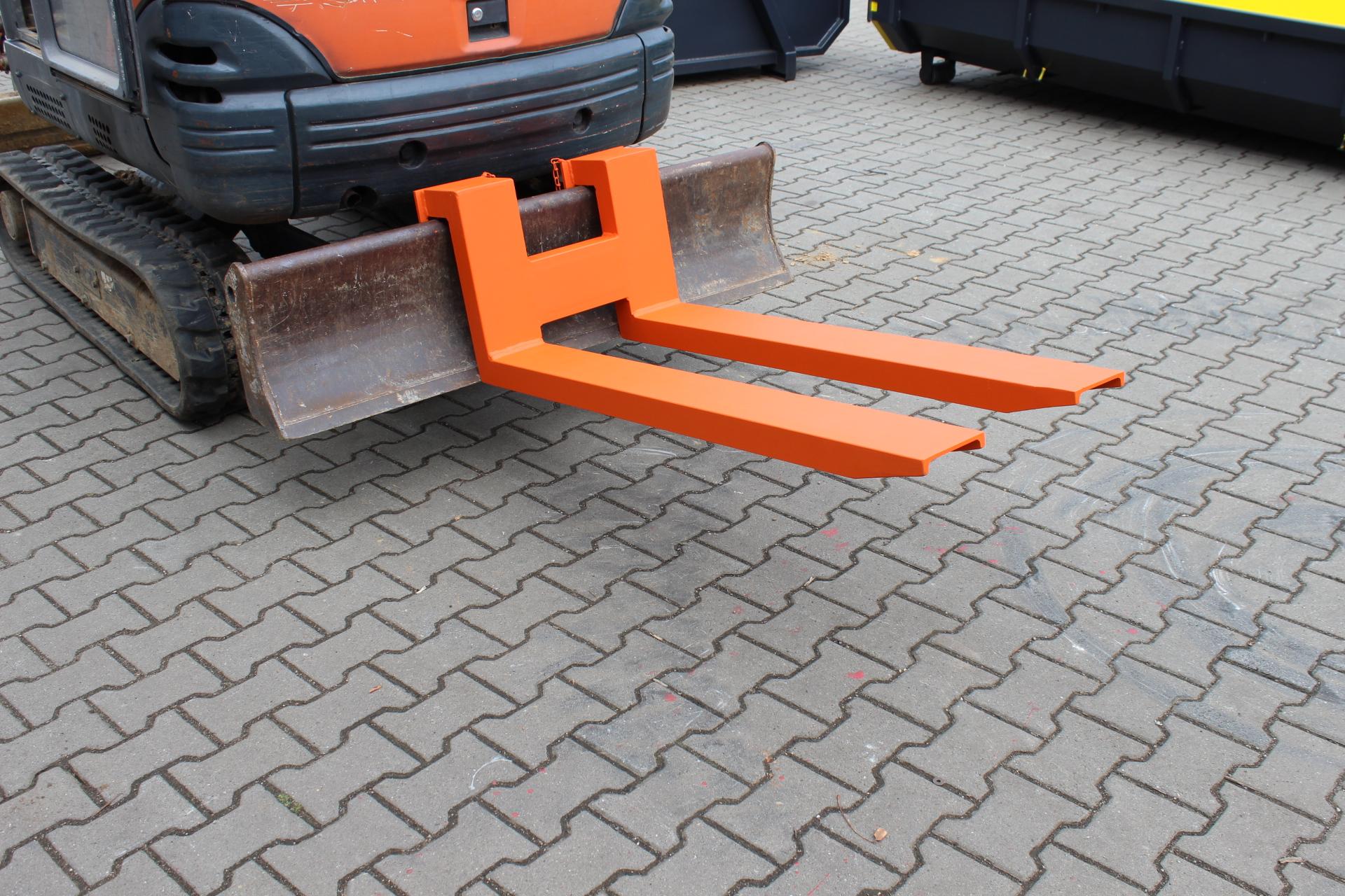 Palettengabel für Stützschild Minibagger